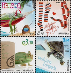#1022 Croatia - Children's World: Pets - Reptiles, Set of 4 (MNH)