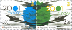 #451 Croatia - 2001 Europa: Water, Pair (MNH)