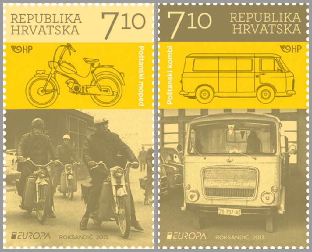 #871-872 Croatia - 2013 Europa: The Postman Van, Set of 2 (MNH)