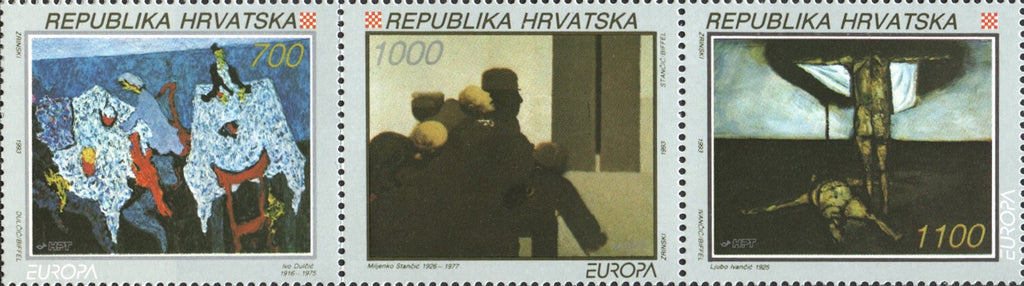 #159-161 Croatia - 1993 Europa: Contemporary Art, Set of 3 (MNH)