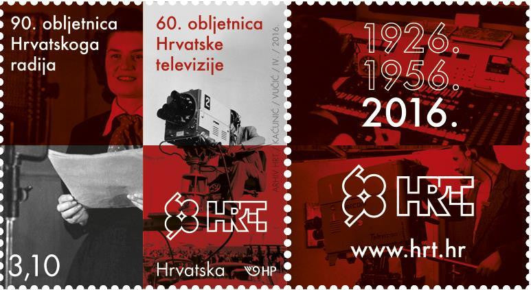 #989 Croatia - 2016 Croatian Radio, 90th Anniv. and Television, 60th Anniv. (MNH)