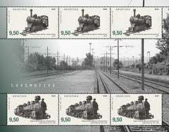 #1008 Croatia - Locomotives M/S (MNH)