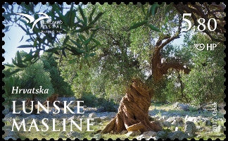 #1043 Croatia - PUMED: Mediterranean Trees: Olive Grove, Lun (MNH)