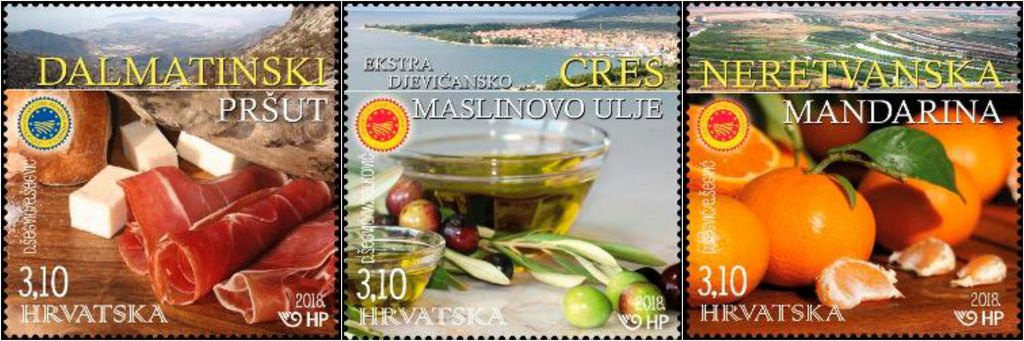 #1063-1065 Croatia - Protected Food Products, Set of 3 (MNH)