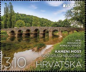 #1069-1070 Croatia - 2018 Europa: Bridges, Set of 2 (MNH)