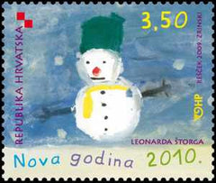 #747 Croatia - New Year's Day (MNH)
