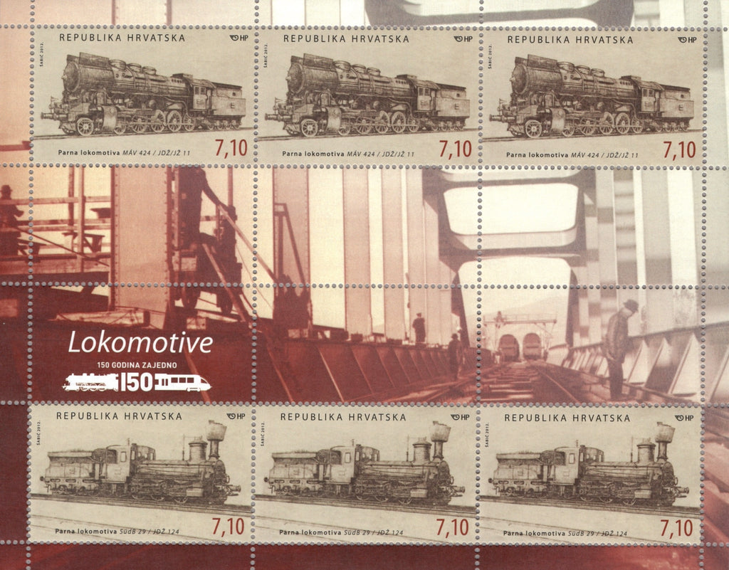 #850 Croatia - 2012 Locomotives M/S (MNH)