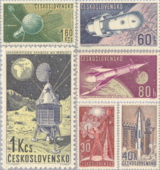 #1105-1110 Czechoslovakia - Space Research (MNH)