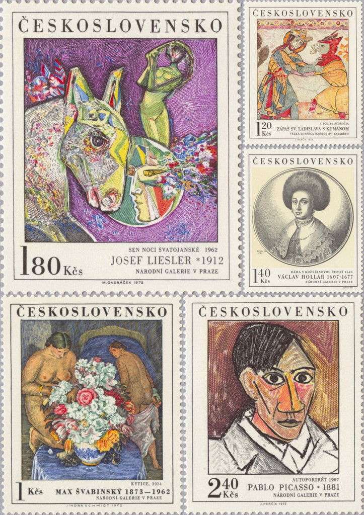 #1847-1851 Czechoslovakia - Painting Type of 1967 (MNH)