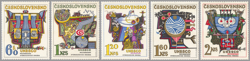 #1931-1935 Czechoslovakia - Hydrological Decade (UNESCO) (MNH)