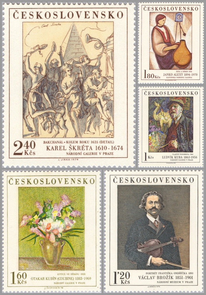 #1980-1984 Czechoslovakia - Paintings (MNH)