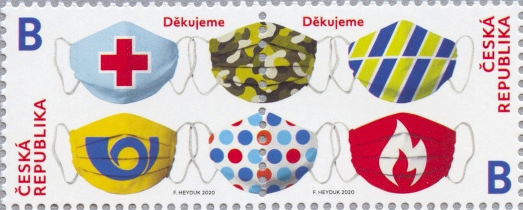 Czech Republic - 2020 Coronavirus: Thank You Rescue Workers, Pair (MNH)