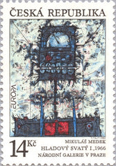 #2881 Czech Republic - 1993 Europa: Contemporary Art (MNH)