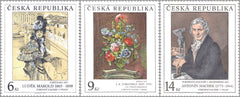 #2973-2975 Czech Republic - Painting Type of 1967, Set of 3 (MNH)