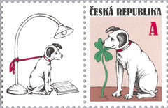 #3595 Czech Republic - Dog and Four-Leaf Clover (MNH)