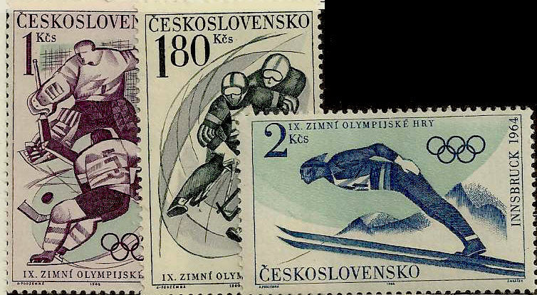 #1220-1222 Czechoslovakia - 9th Winter Olympics (MNH)