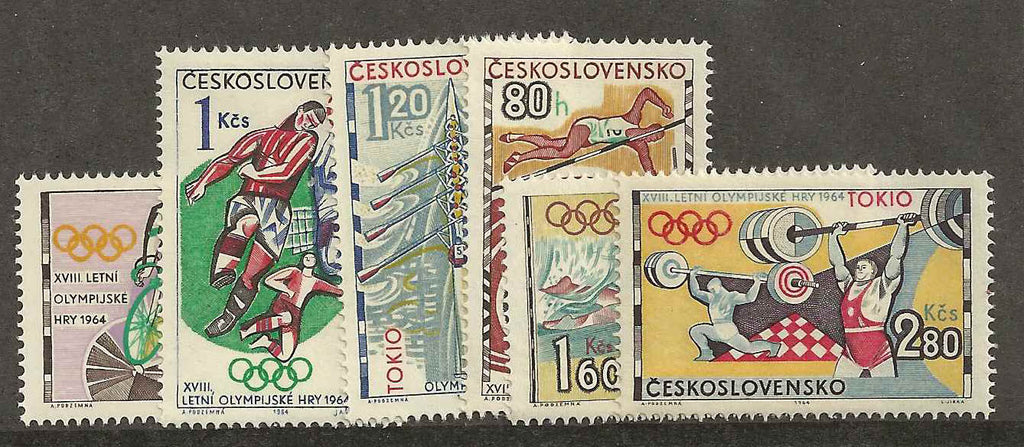 #1258-1263 Czechoslovakia - 18th Olympics (MNH)