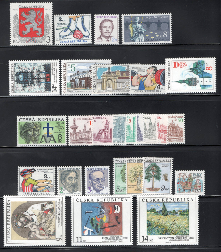 1993 Czech Republic Year Set (MNH)