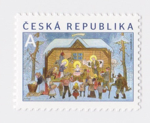 #3621 Czech Republic - 2014 Bethlehem in Winter, by Josef Lada (MNH)