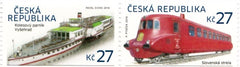 #3663 Czech Republic - Train and Steamboat, Pair (MNH)