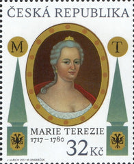 #3704 Czech Republic - Maria Theresa, Single (MNH)