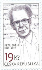 #3779 Czech Republic - Personalities: Petr Eben, Composer (MNH)