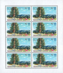#3089-3090 Czech Republic - 1999 Europa:  Nature Reserves and Parks, Sheets of 8 (MNH)