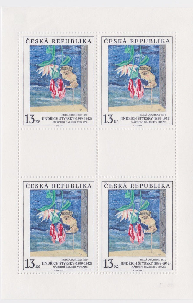 #3105-3107 Czech Republic - Painting Type of 1967, Sheets of 4 (MLH)