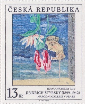 #3105-3107 Czech Republic - Painting Type of 1967, Set of 3 (MNH)