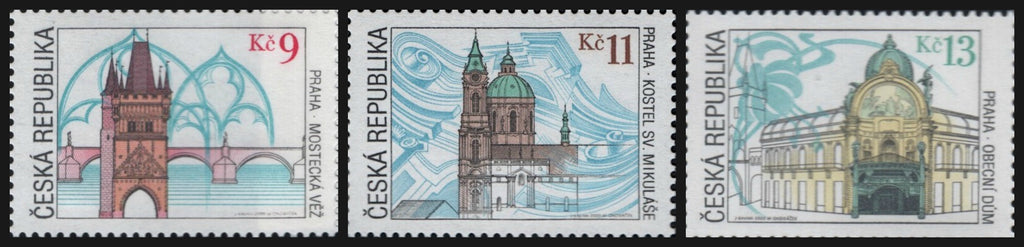 #3123-3125 Czech Republic - Prague Landmarks, Set of 3 (MNH)