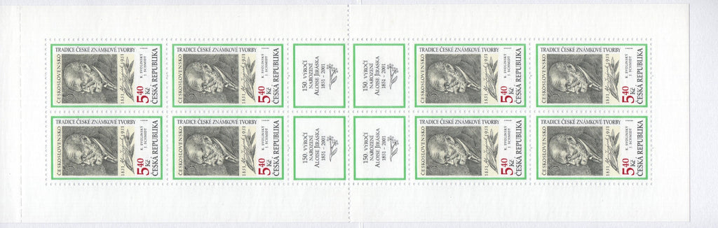 #3139a Czech Republic - 2001 Tradition of Czech Stamp Production, Booklet (MNH)