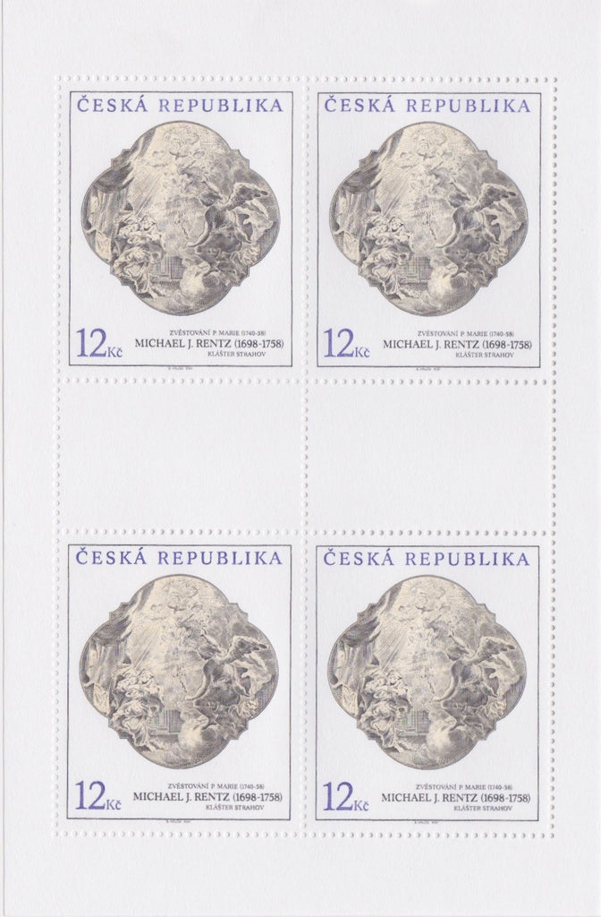 #3160-3162 Czech Republic - Painting Type of 1967, Sheets of 4 (MNH)
