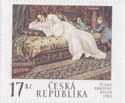 #3169 Czech Republic - Divan, by Vlaho Bukovac, Sheet of 4 (MNH)
