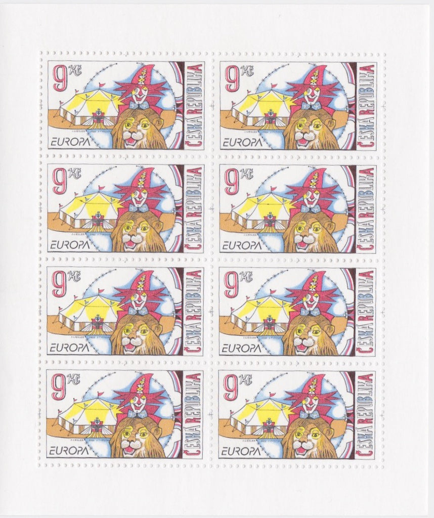 #3170 Czech Republic - 2002 Europa: Circus, Sheet of 8 (MNH)