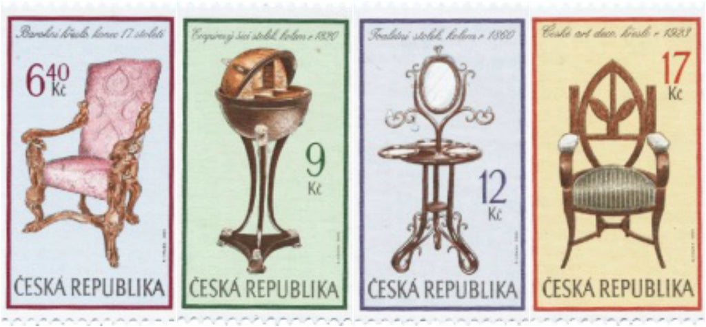 #3184-3187 Czech Republic - Furniture, Set of 4 (MNH)