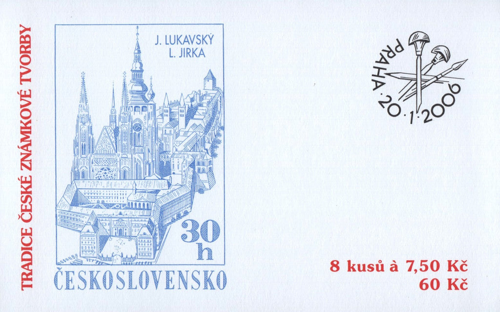 #3292a Czech Republic - 2006 Tradition of Czech Stamp Production, Booklet (MNH)