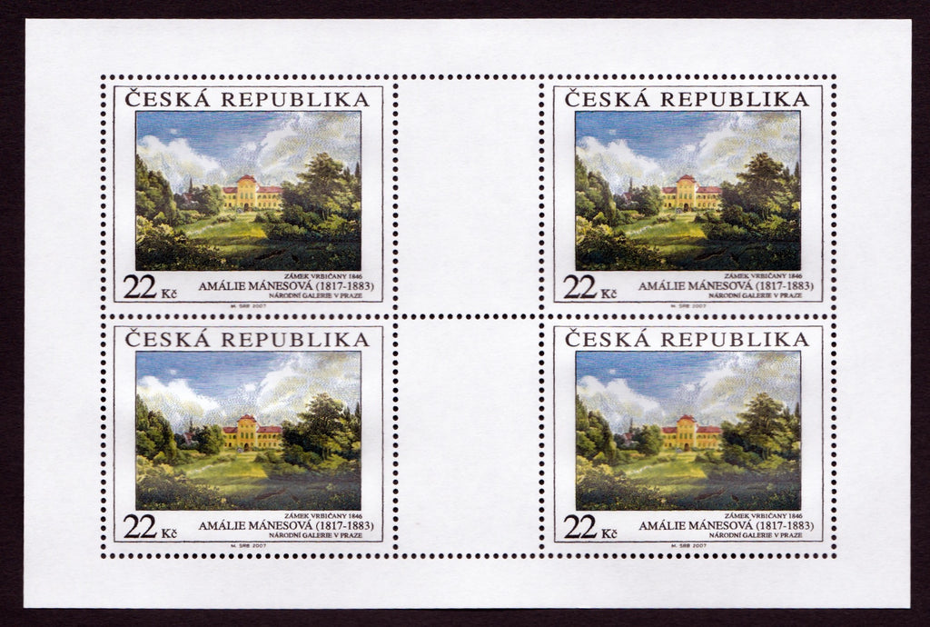 #3359-3361 Czech Republic - Painting Type of 1967, Sheets of 4 (MNH)