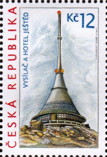 #3379-3380 Czech Republic - Ještěd Tower and Hradec Králové Buildings, Set of 2 (MNH)
