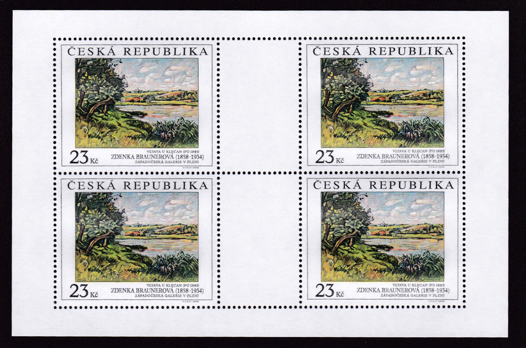 #3401-3402 Czech Republic - Painting Type of 1967, Sheets of 4 (MNH)