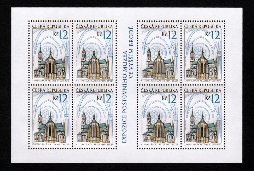 #3420-3421 Czech Republic - Buildings, Sheets of 8 (MNH)