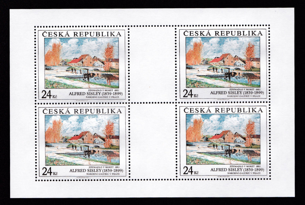 #3435-3436 Czech Republic - Painting Type of 1967, Sheets of 4 (MNH)