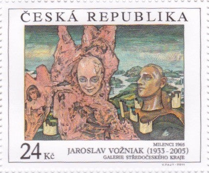 #3518-3520 Czech Republic - Painting Type of 1967, Set of 3 (MNH)