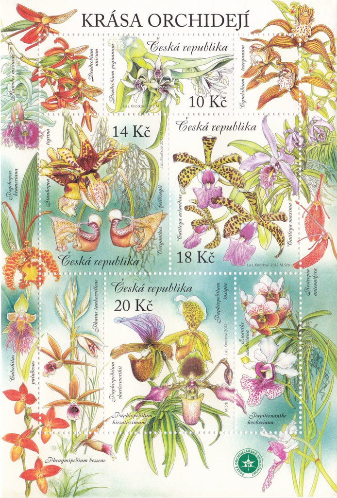 #3546 Czech Republic - Orchids M/S (MNH)