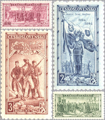 #195-198 Czechoslovakia - 20th Anniv. of Czechoslovakian Legion (MNH)