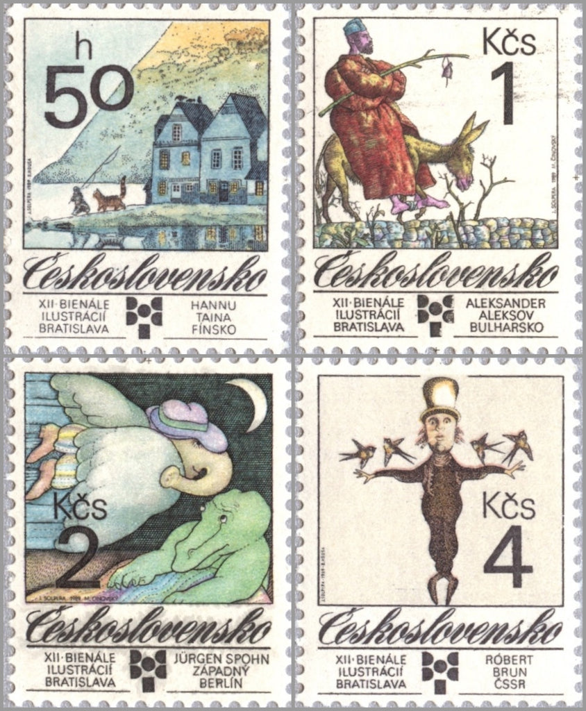 #2754-2757 Czechoslovakia - Award-Winning Illustrations (MNH)