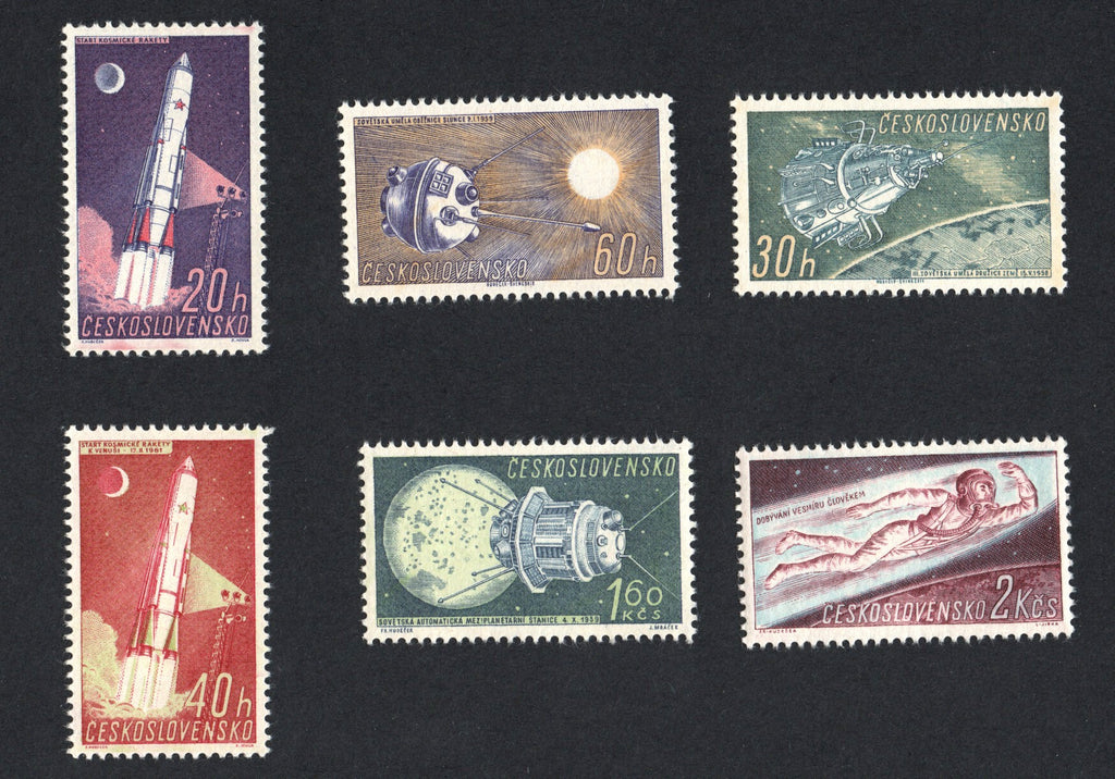 #1031-1036 Czechoslovakia - Soviet Space Research (MNH)