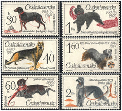 #1312-1317 Czechoslovakia - Dogs, Set of 6 (MNH)