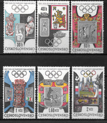 #1531-1536 Czechoslovakia - 19th Olympic Games, Mexico City (MNH)
