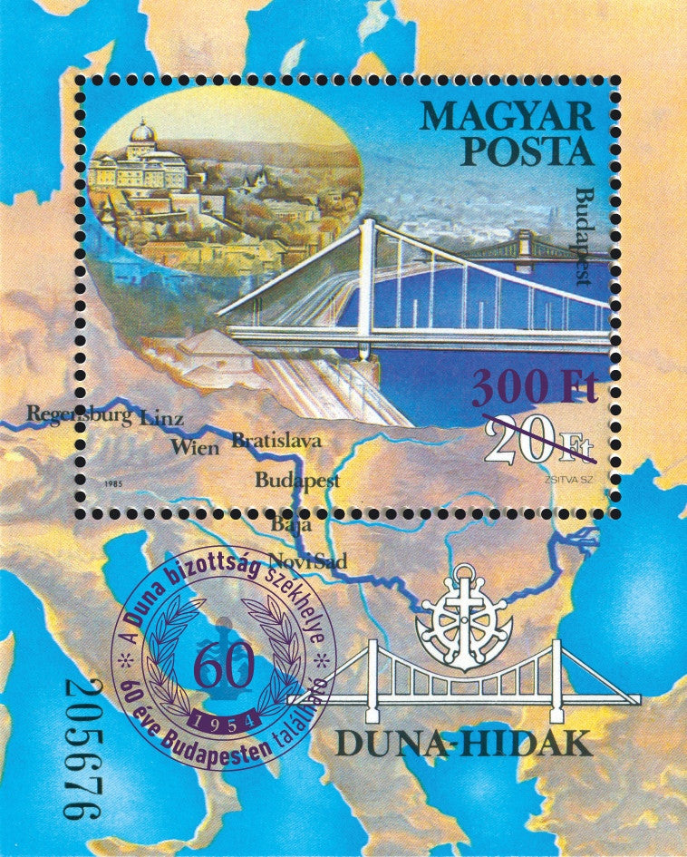 #4333 Hungary - 60th Anniversary of Danube Commission S/S (MNH)