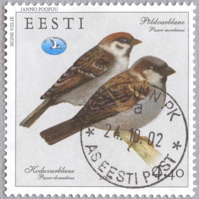 #435 Estonia - Bird Type of 2001 (Used)